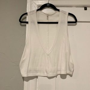 Free People Cropped V Neck Tank